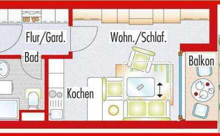 1 Zi-Wohnung Wendlingen Balkon TG Schwimmbad - Privatverkauf