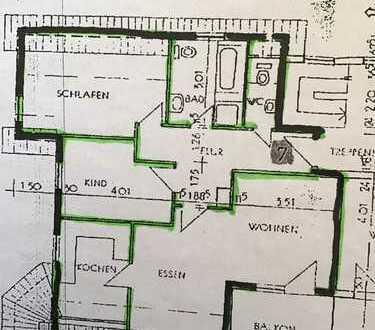 Gepflegte 3-Zimmer-DG-Wohnung mit Balkon und Einbauküche in Hochtaunuskreis