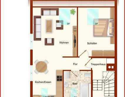 +++Vermietete DG-Wohnung mit guter Aussicht-modernisiert- ERBPACHT+++