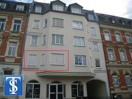 88/12 - Schöne vermietete 3-Zimmer-ETW mit Balkon 1. OG. in Plauen (Preißelpöhl)