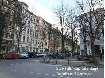 St.Pauli: Vermietete 3-Zi. Wohnung mit Balkon