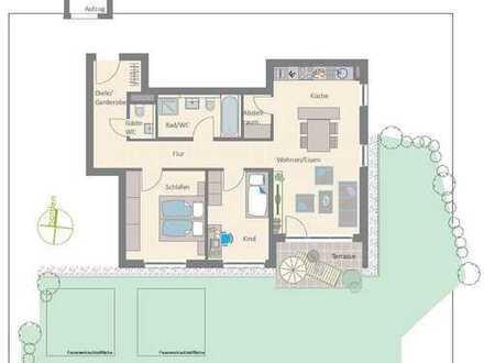 3-Zimmer-Wohnung mit großem Gartenanteil und Südterrasse!