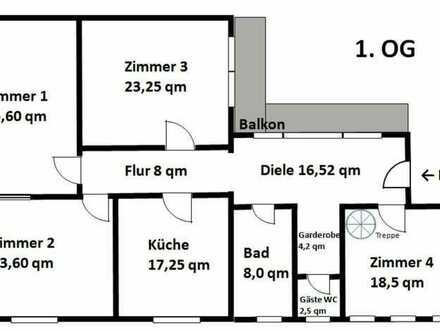 Maisonette-Wohnung mit fünf Zimmern und Balkon in Kaiserslautern Provisionsfrei.