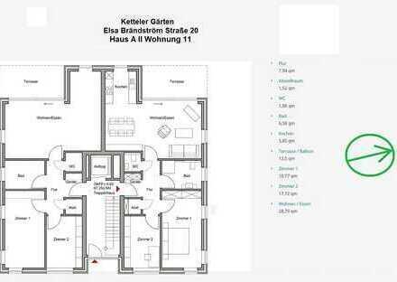 freundliche 3-Zimmer Etagenwohnung mit Balkon in Dülmen