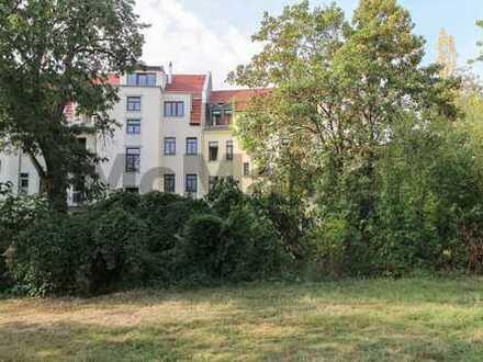 Erschlossenes, unbebautes Baugrundstück ideal für MFH am Stadtteilpark Rabet