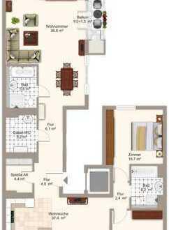 Top moderne und ruhig gelegene 5-Zimmer-Wohnung nahe der Isar