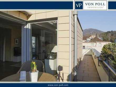 Modernes Penthouse mit umlaufender Dachterrasse und perfekte Aussicht ins Grüne