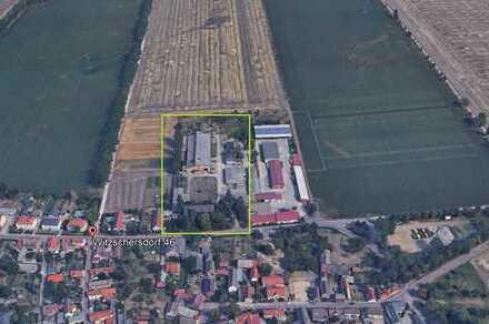 Günthersdorf: 20 ha Grundstück mit Hallen und Gebäuden