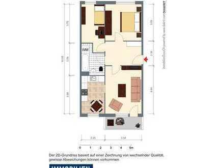 helle 3-Raum Wohnung