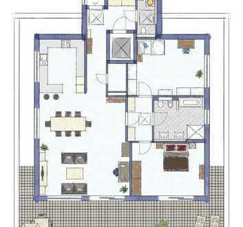 Helle 3-Zimmer-Penthouse-Wohnung mit Balkon und EBK in Augsburg-Haunstetten