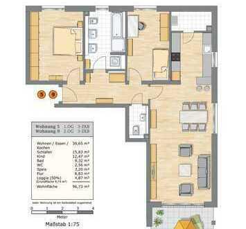3-ZKB Wohnung in den Afragärten Friedberg (Haus 5)