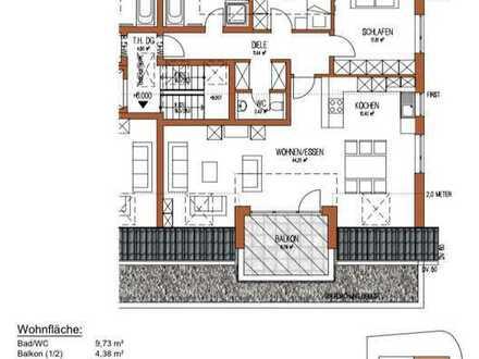 Erstbezug: Großzügige 3-Zimmer-DG-Wohnung in Iggingen mit Balkon und Einbauküche