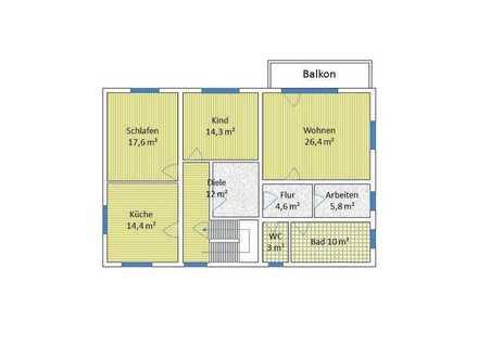 Wir wollen wir leben ? von PRIVAT: Bezugsfertige neu renovierte 4ZKB-Wohnung in Brachttal-Hellstein