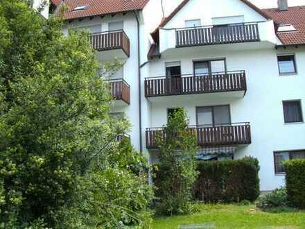 Dillingen: schöne, helle und zentral gelegene 2-Zi-ETW, mit 2 tollen Balkonen