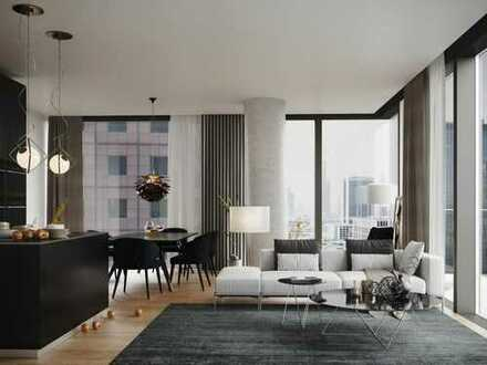 LIFE IN THE CITY'S FRONT ROW SEAT: Elegante 3-Zimmer-Wohnung mit Skylineblick