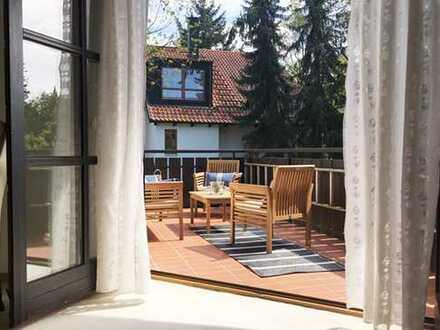 Möblierte 2 Zimmer Wohnung mit tollem Balkon