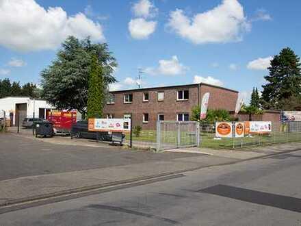 Solide Kapitalanlage - Bürogebäude mit Lagerhalle und Baugrundstück