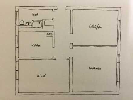 62 m², 3 Zimmer Wohnung