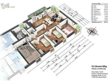 A3 4,5 große 4,5 Zimmer-Wohnung mit Balkon