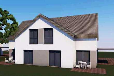 hochwertige, moderne Doppelhaushälfte (Neubau) am Stadtrand