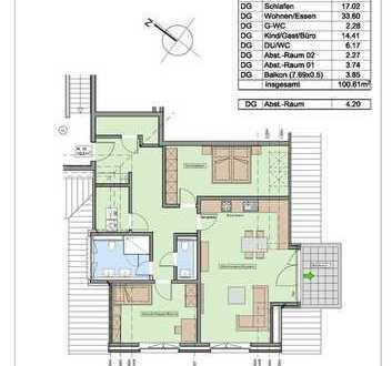 Neubaukomfortwohnung mit Aufzug - sehr stadtnah