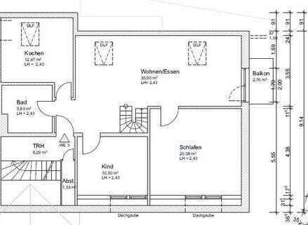 Erstbezug nach Sanierung mit Balkon: freundliche 4-Zimmer-DG-Wohnung in Altenstadt