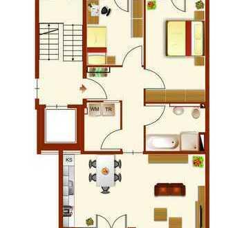 3 Zimmer NB mit 2 Balkonen und Aufzug