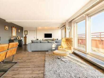 Lichtdurchflutete Penthouse-Wohnung mit großer Dachterrasse im Herzen von Flörsheim!