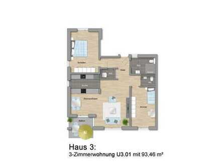 Betreutes Wohnen: 3-Zimmerwohnung mit Gartenanteil im Erdgeschoss