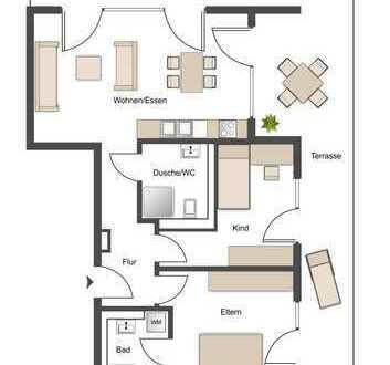 ++ Paare aufgepasst: Stilvolle Neubauwohnung mit Parkettboden, Fußbodenheizung und Dachterrasse ++