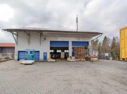 Halle (für Produktion, Lager, Logistik usw.) mit Büro- und Freifläche
