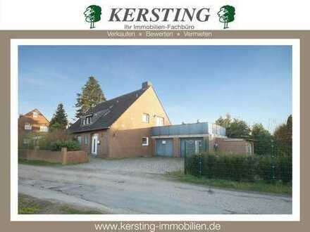 Freiblick-Liebhaber aufgepasst! Freistehendes 1-2 Familienhaus mit 2 Garagen in KR-Benrad!
