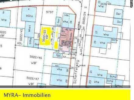 Grundstück mit Baugenehmigung für die Errichtung einer Doppelhaushälfte mit Garage in ruhiger Lage