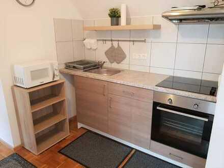 Stilvolle, modernisierte 2-Zimmer-Wohnung mit Balkon und EBK in Waghäusel