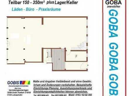 Lu Büro-Praxisräume/Laden- ca.300m² teilbar/erw. moderne Ausstattung nahe Berliner Platz