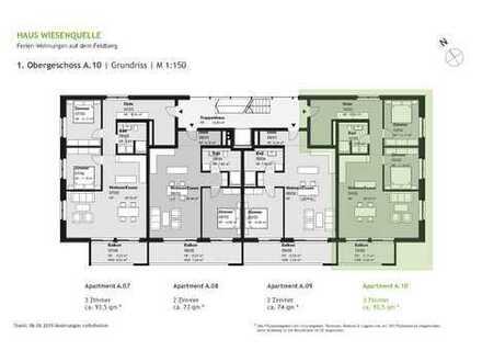 A.10 - 3 Zimmerwohnung im 1.OG mit SW-Ausrichtung - HAUS WIESENQUELLE Feldberg
