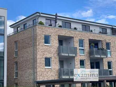 Neuwertige Eigentumswohnung im Staffelgeschoss mit großer umlaufender Dachterrasse.