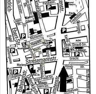 Im Herzen von Rheydt Zentrum liegende 3-Zimmer-Wohnung.