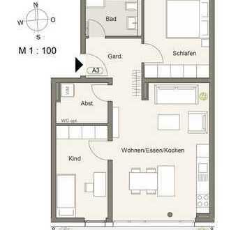 Erstbezug mit Einbauküche und riesigem Balkon: stilvolle 3,5-Zimmer-Wohnung in Pforzheim