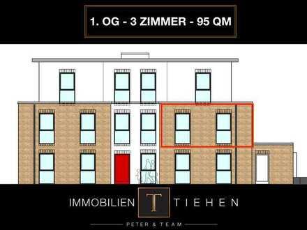 Scharfes Obergeschoss: Neubau-Wohnung im 1. OG mit Fahrstuhl, 2 SZ, KfW 55, Carport uvm.!