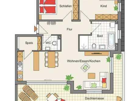 Exklusive 3-Zimmer-Penthouse-Wohnung in Roding Stadtmitte; Erstbezug, Dachterasse