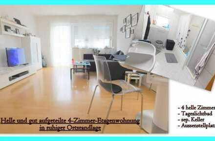 **Helle und gut aufgeteilte 4-Zimmer-Etagenwohnung in ruhiger Ortsrandlage**