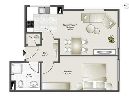 Neubau 8 Familienhaus-Zentrumsnahme ab 2,5 Zi. bis 4,5 Zi. ETW Whg. 3