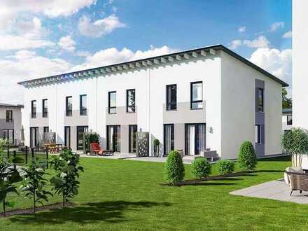 Neubau Erstbezug, eigenes Haus mit Garten, zwei Stellplätze, schlüsselfertig, Reihenmittelhaus