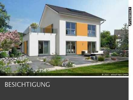Wunderschönes zweigeschossiges Traumhaus in sonniger Lage, inkl. Grundstück, Bodenplatte und Baunebe
