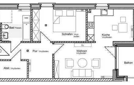 Neubau - 2-Zimmerwohnung mit Balkon zu vermieten! Wohnberechtigungsschein erforderlich!
