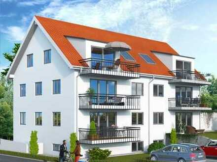 NEUBAU-ERSTBEZUG: Stilvolle 3-Zimmer-Dachgeschosswohnung mit Balkon in Freising!
