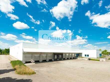 Lager- und Logistikflächen   teilbar ab 2.500 m²   10 Rampen   nordöstlich von Leipzig
