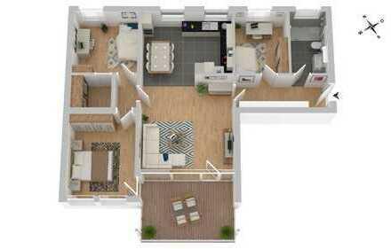 Mitten im Leben: moderne 4,5-Zimmer-ETW mit großzügigem Balkon in zentraler Lage