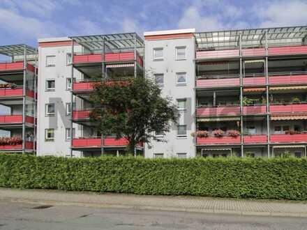 Sanierte 3-Zimmer-Wohnung mit grüner Aussicht vom großen Balkon in naturnaher Lage von Altendorf